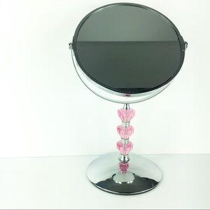 Other - Chic Makeup Vanity Mirror Pink Jewel Stand